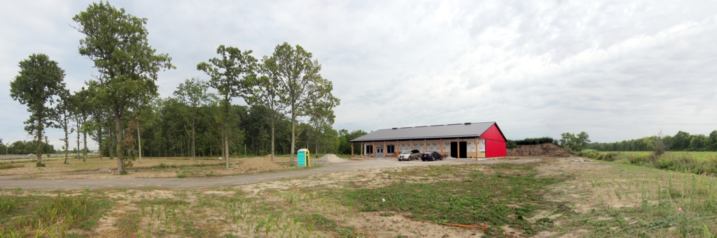 The Barn almost complete Aug 2013