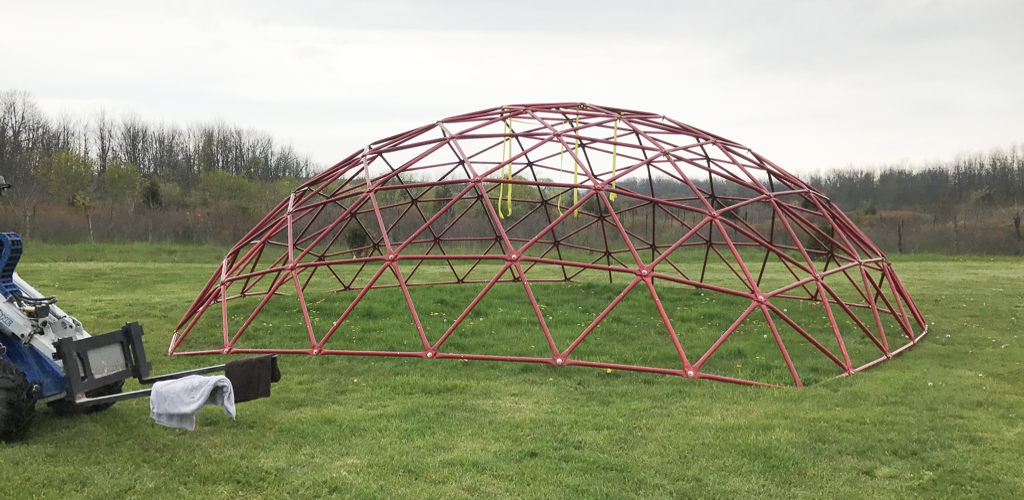 Geodesic Dome Greenhouse, May 12, 2017